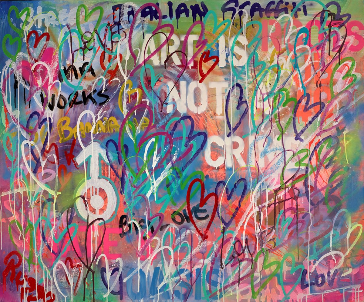 Art is not a Crime by antonio russo -  sized 47x39 inches. Available from Whitewall Galleries